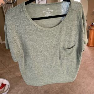Army green crop top !